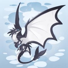 This dragon looks like Toothless from the How to Train Your Dragon franchise and its color resembles that of a killer whale. Mythological Creatures, Fantasy Creatures, Mythical Creatures, Toothless And Stitch, Toothless Dragon, Wings Of Fire Dragons, Cool Dragons, Fantasy Beasts, Fantasy Art