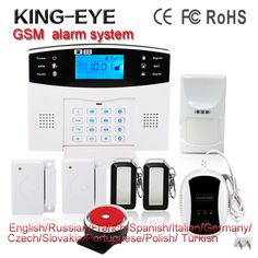 Wireless GSM SMS Russian/French/Spanish voice autodial intelegent anti-theft home alarm system kit sms control with LCD display