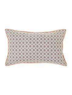 Buy Linea Jaipur Printed Cushion In Grey from our Cushions range - Tesco.com