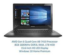2016 Newest Lenovo High Performance Premium HD Laptop AMD Quad core 74 Budget Laptops, Dolby Audio, Latest Laptop, Best Build, Best Laptops, Best Budget, Hdd, Daily Deals, Core