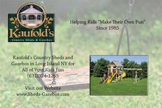 Shed sales, vinyl sheds, wood sheds, garden sheds, storage sheds Kids Fun, Cool Kids, Vinyl Sheds, Wood Shed, Long Island Ny, Playhouses, Shed Storage, Kids Playing, Gazebo