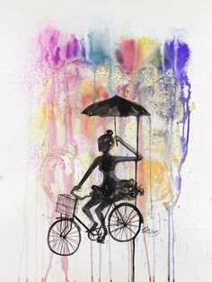 """Saatchi Art Artist: Sara Riches; Pen and Ink 2013 Drawing """"Happiness"""""""