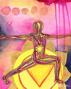 Yoga Art Print | 8x10 | Solar Plexus Chakra | gift for yogi | chakra art | chakra wall art