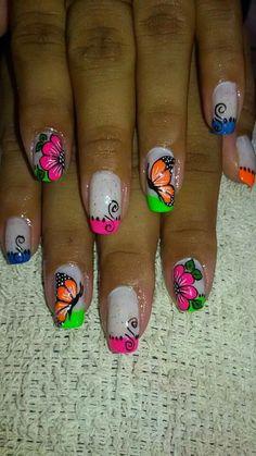 T Summer Nails, Art Tutorials, Nail Designs, Nail Art, Awesome, Enamels, Vestidos, Pretty Toe Nails, Summer Nail Art