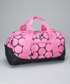 Take a look at this Pink Polka Dot Duffel Bag by Wildkin on #zulily today!