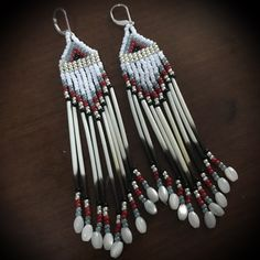 Excited to share this item from my shop: Porcupine Quill Earrings Etsy Earrings, Beaded Earrings, Beadwork, Beading, Native American Earrings, Native Art, Etsy Jewelry, Quilling, Dream Catcher