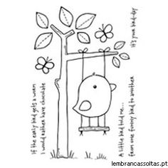 Woodware - Clear Stamp - Funny Bird