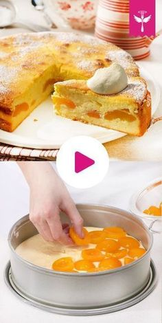 Bottomless cheesecake - how it Käsekuchen ohne Boden – so geht's Airy, light, tasty: We show you step by step how the perfect one succeed without bottom! Easy Cake Recipes, Sweet Recipes, Baking Recipes, Cookie Recipes, Dessert Recipes, German Baking, Best Pancake Recipe, Food Cakes, No Bake Cake
