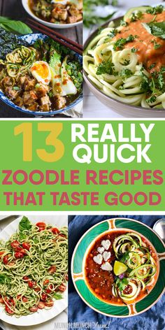 Zucchini Noodles: 13 Zoodle Recipes (All Under 30 MIN!) – Low carb ZUCCHINI NOODLES might seem intimidating, but they are actually quite quick and easy. Vegetarian Recipes Easy, Clean Eating Recipes, Healthy Eating, Healthy Recipes, Vegetarian Dinners, Keto Recipes, Zucchini Noodle Recipes, Zucchini Noodles, Vegetable Dishes