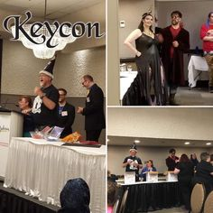 The con is up and running and ice cream is being served. #keycon 35