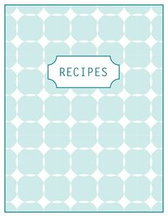 47 Best Free Printable Recipe Pages Images On Pinterest In 2018