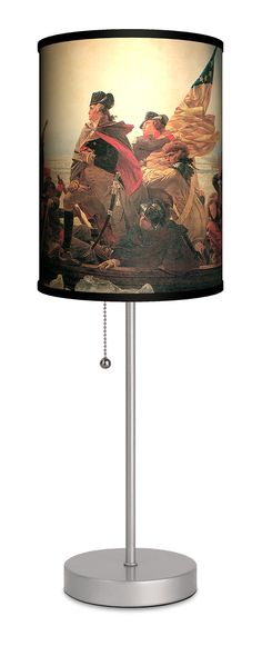 "Emmanuel Leutze ""Crossing the Delaware"" 20"" H Table Lamp with Drum Shade"