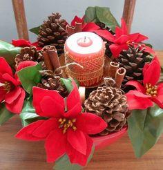 Fuxicando Ideias: # Segunda Natalina - Arranjo de mesa para o Natal