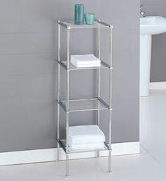 Metro Four-Tier Chrome Bath Shelf Image