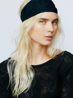 Myna Headband | Boho printed gauzy cotton wideband with gathered stretch back for easy, effortless wear.
