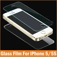 2PC=1Front 1Back 0.26mm Tempered Glass For Apple iPhone 5 5S 4 4S Screen Protector Film Full Body Glass On the For iPhone 5S SE