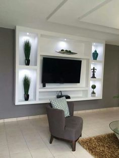 Beautiful living room design with television 23 Condo Living Room, Living Room Remodel, Living Room Decor, Living Room Tv Unit Designs, Tv Unit Furniture, Modern Tv Wall Units, Bedroom False Ceiling Design, Tv Wall Decor, Kitchen Room Design