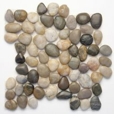 Solistone Anatolia Pebbles Multi Color Natural x Polished Pebble Mosaic Floor and Wall Tile at Lowe's. Design an atmosphere inspired by earthy elements with this decorative pebble mosaic tile. Composed from natural river rocks, an assortment of multicolor Pebble Color, Pebble Stone, Stone Tiles, Outdoor Flooring, Outdoor Walls, Indoor Outdoor, Outdoor Ideas, Outdoor Spaces, Pebble Mosaic Tile