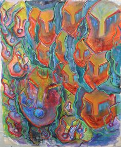 I adore this abstract art so beautiful, and the color palette is amazing.