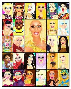 DRAG QUEEN ROYALTY by RipstirLeon87 Drag Racing Quotes, Rupaul Drag Queen, Queen Drawing, Adore Delano, Race Party, Queen Art, Queen Makeup, Diamond Art, Drag Queens