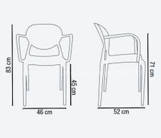 Cadeira Slick (com braço) | Essência Móveis e Decoração