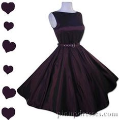 New Retro Purple Sleeveless Dress