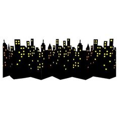 "Cool Skyline Prop Great for Wall or Table Measures 72"" x 12"" Cardboard Construction"
