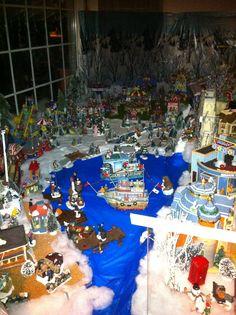 Window scene of Christmas Village 2011