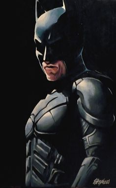 Christian Bale as Batman. Decided I needed to paint this to balance out the huge number of Joker pictures I've done XD Acrylic on Canvas. Batman Gotham Knight, Im Batman, Batman Art, The Dark Knight Trilogy, The Dark Knight Rises, Batman Pictures, Batman Christian Bale, Joker Pics, Batman Poster