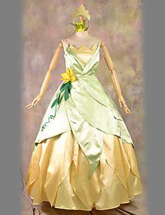 La Princesse et la Grenouille Tiana vert et blanc robe de co... – EUR € 95.95