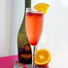 Cranberry-Orange Prosecco Cocktail Recipe Beverages, Cocktails with cranberries, cranberry juice cocktail, sugar substitute, orange, prosecco