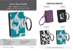 Adorable!  Just what it says it is, EVERY-DAY WRISTLET! Part of the 5 for $5 special too! Spend $35 choose one of these for $5! Browse/shop/ join my team here: www.mythirtyone.com/339588 shop * christmas finale* party...its closing Dec 9th in time for guaranteed xmas delivery! !!