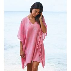 Kiki Sun Kaftan Pink. £48. his kaftan keeps the much-loved classic shape and the pom pom trim details. Worldwide shipping available.