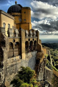 Palácio Nacional da Pena in Sintra, Portugal. Must visit, breathtaking scenery! Sintra Portugal, Ericeira Portugal, Spain And Portugal, Places Around The World, The Places Youll Go, Great Places, Places To See, Around The Worlds, Algarve