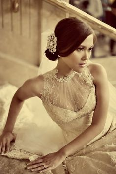 Veluz. ohhhhh my goodness gracious. the beading and necklines and detail this woman does is mind-blowing.    a 100% custom bridal gown designer, based in the Philippines.
