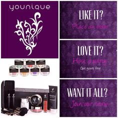LOVE Younique - Fastest growing home based business! Join my TEAM!  Join today for only $99 and start your own home based business. Do you love make-up?  So many ways to sell and earn residual  income!! Your own FREE Younique Web-Site and no auto-ship required!!! Fastest growing Make-up company!!!! Start now doing what you love!  www.youniquebydeena.com