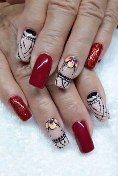 Beauty Nails Crazy Nail Art, Pretty Nail Art, Nail Art Rhinestones, Glitter Nail Art, Simple Nail Art Designs, Nail Designs, Magic Nails, Classy Nails, Acrylic Nail Art