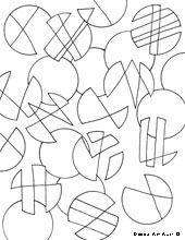 Circles Coloring Pages