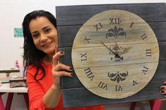 DIY | Relógio com Pátina e Textura | Faça Você Mesmo | Livia Fiorelli | ...