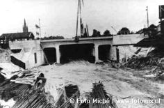 Beatrixtunnel in Hilversum in aanbouw.