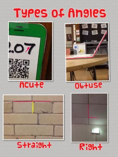 Geometry Collages using Pic Collage (geometry pictures taken from around the school)