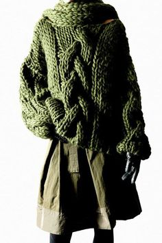Ivan Grundahl - Chunky khaki cabled sweater - Its summer where we are in London but now we cant wait for winter!