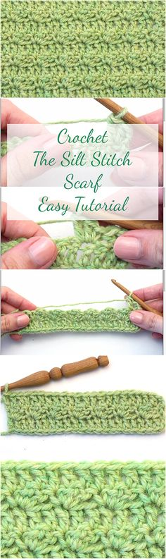 Crochet The Silt Stitch Scarf Easy Tutorial