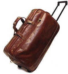 Cognac Italian Leather Cabin Case by San Babila http://www ...