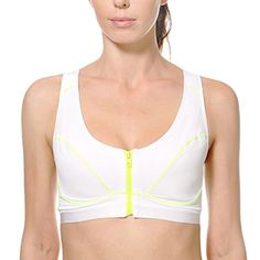 La Isla Women's High Impact Front Zipper Sports Bra(One Cup Size Runs Small) *** Want additional info? Click on the image.