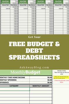 Get Your Free Budget Template And Debt Tracker Spreadsheet For