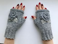 Your place to buy and sell all things handmade Wool Gloves, Fingerless Gloves Knitted, Lace Gloves, Lace Cuffs, Beginner Crochet Tutorial, Crochet Mittens, Apron Designs, Hand Warmers, Hand Knitting