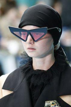 486d436f6fd4 Eyewear Sunglasses Eyeglasses Trends Spotted at Paris Fashion Week Fall  2018 Runway Trend Spotting Runway Fashion