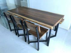 #slabsforsale #urbanwood #salvagedwood #design  #furniture #suar #acacia #stool #wood #interiors #woodslabs #woodworking  #liveedge #liveedgewood #table #longtable #liveedge #woodart #woods  #diningroom #diningtable #carving #acacias #trembesi #india #timber #timberwood #mejamakan #furnitureminimalis #jualkayu Dining Set, Dining Bench, Dining Room, Wood Furniture, Furniture Design, Live Edge Wood, Timber Wood, Salvaged Wood, Creative Home