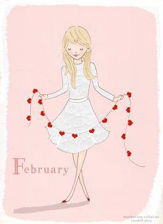 Rose Hill Designs--illustration by Heather Stillufsen Neuer Monat, Girly Quotes, Valentine's Day, Illustrations, Groundhog Day, Be My Valentine, Images, Aurora Sleeping Beauty, Artsy